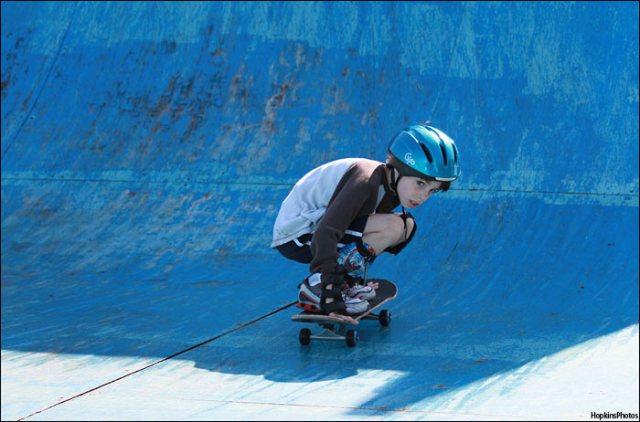Skateboarding at Veterans Park.